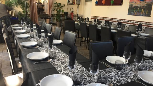 Salle de restaurant la rose des sables à Coutances